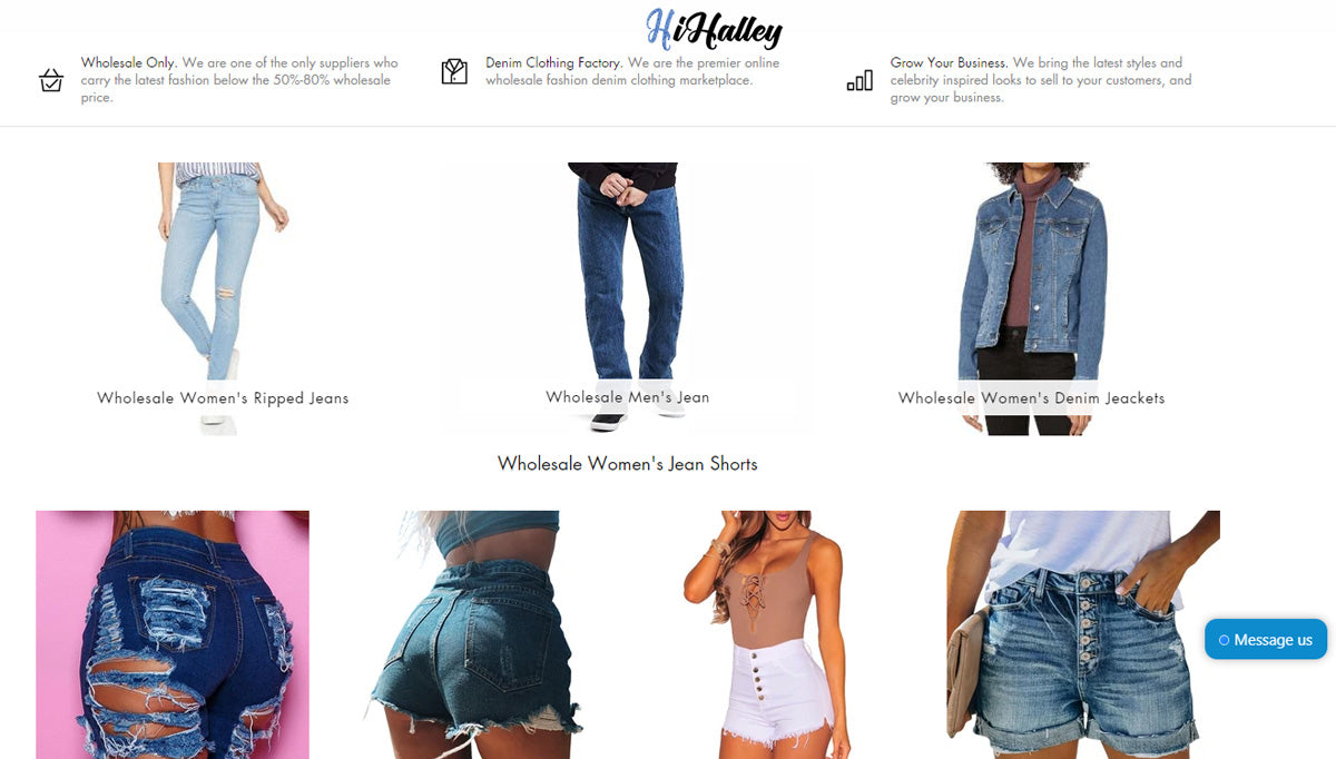 Wholesale HiHalley Jeans