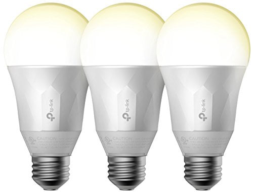 TP-Link Smart LED Light Bulb, Wi-Fi, Dimmable White, 50W Equivalent, 3-Pack