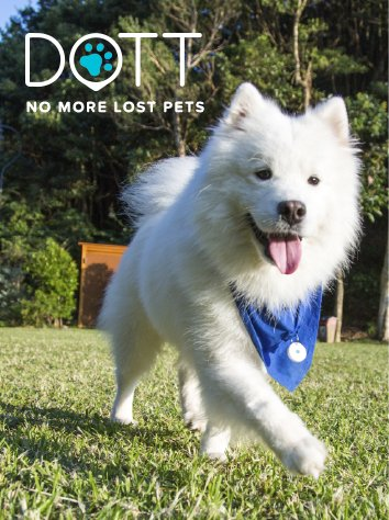 DOTT The Smart Dog Tag, Virtual Leash and Location Tracker