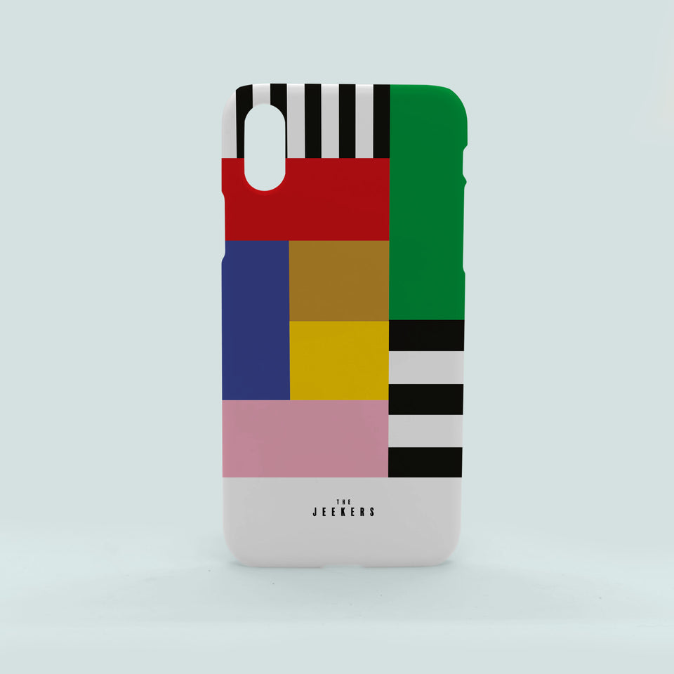 Iphone X stripes Mondrian Jeekers