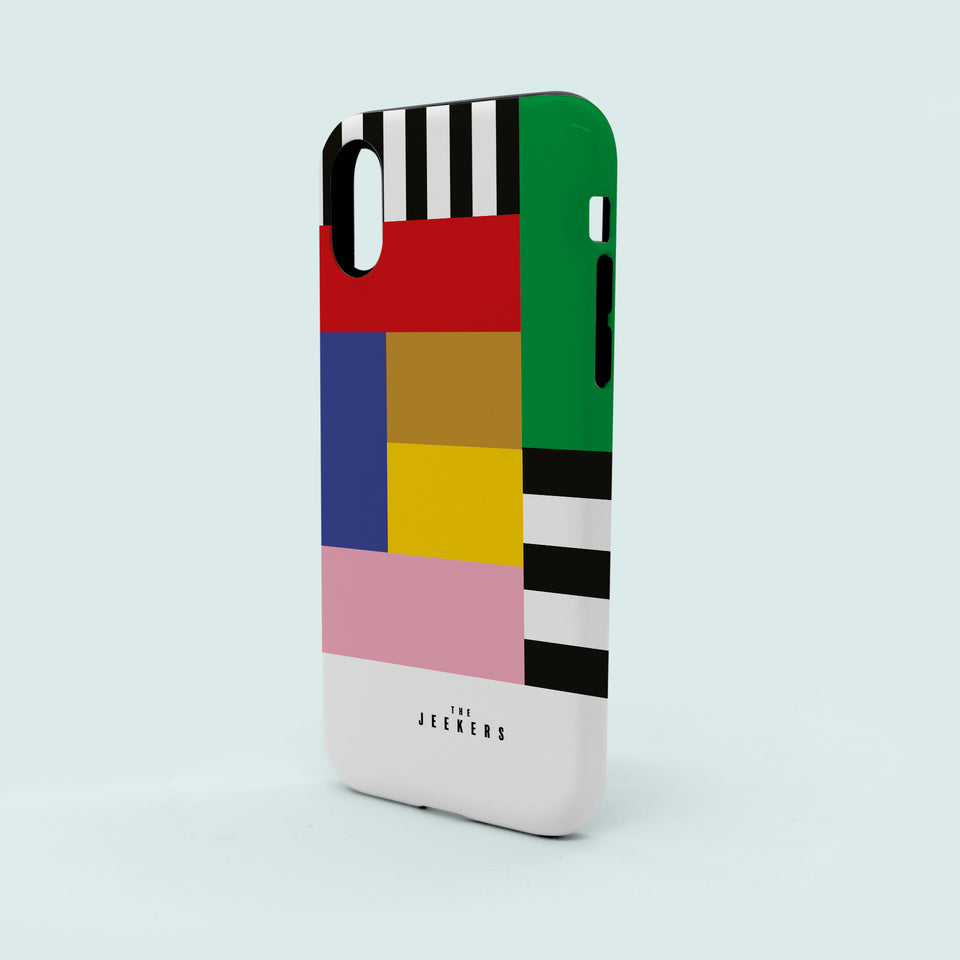 Iphone 8 stripes Mondrian Jeekers
