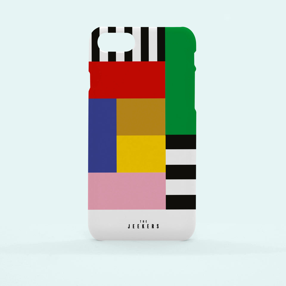 Iphone 8 Plus stripes Mondrian Jeekers