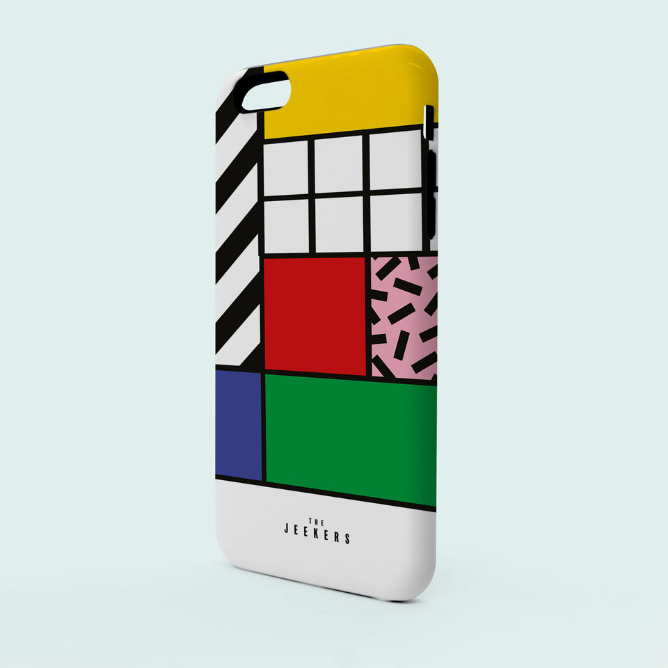 Iphone SE grid Mondrian Jeekers