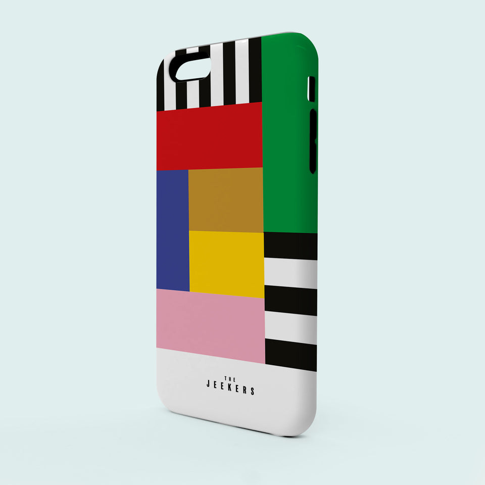 Iphone SE stripes Mondrian Jeekers