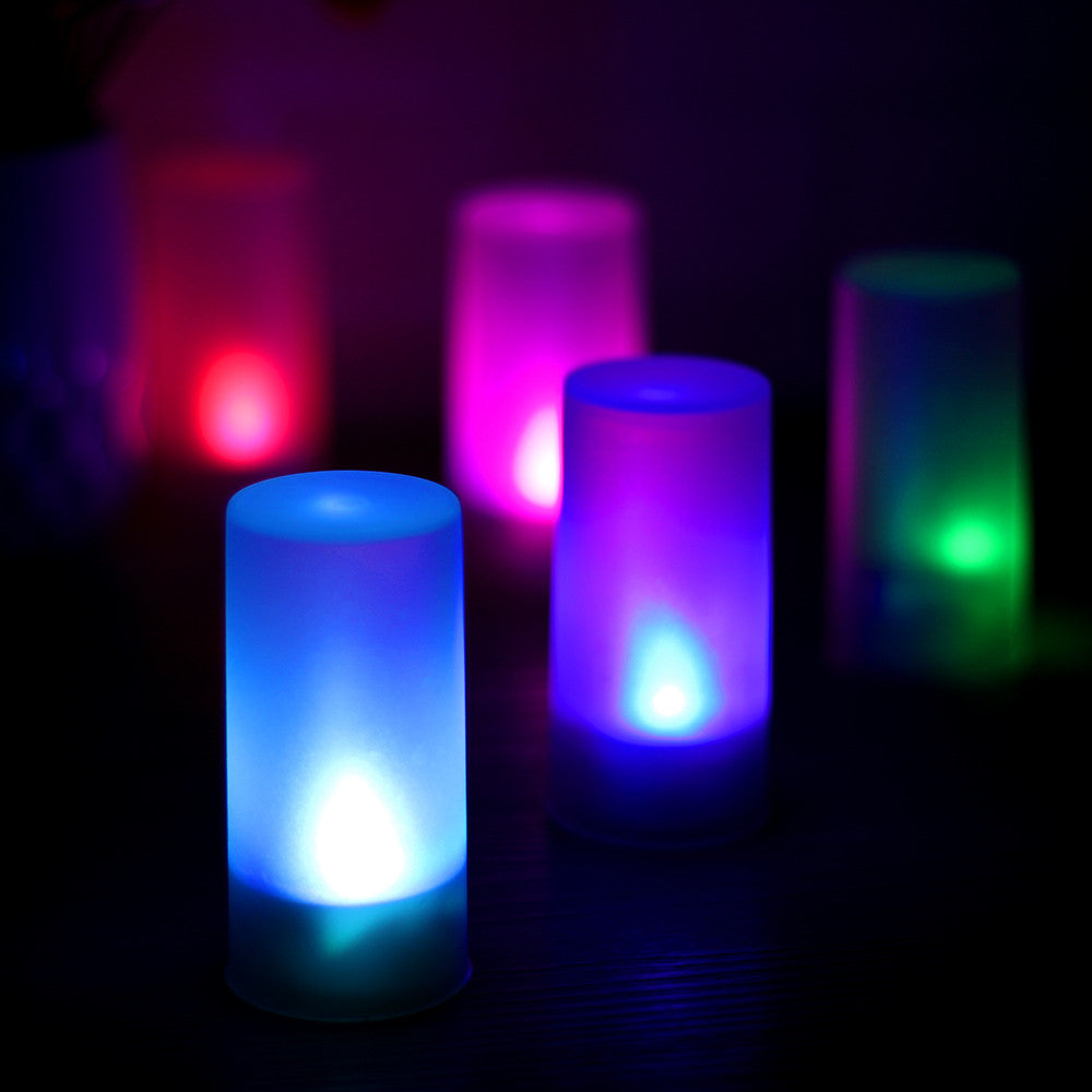 LED Flickering Blow Activated Flash Candle Night light