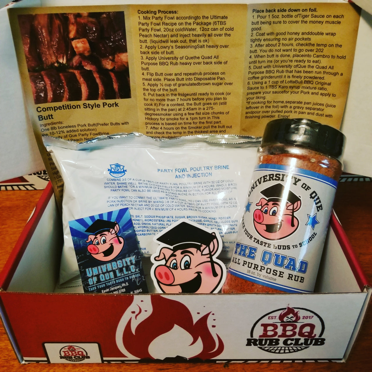 December 2018 BBQ Rub Club Box