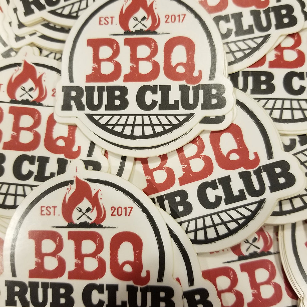 BBQ Rub Club Sticker