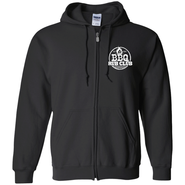BBQ Rub Club Zip Up Hooded Sweatshirt