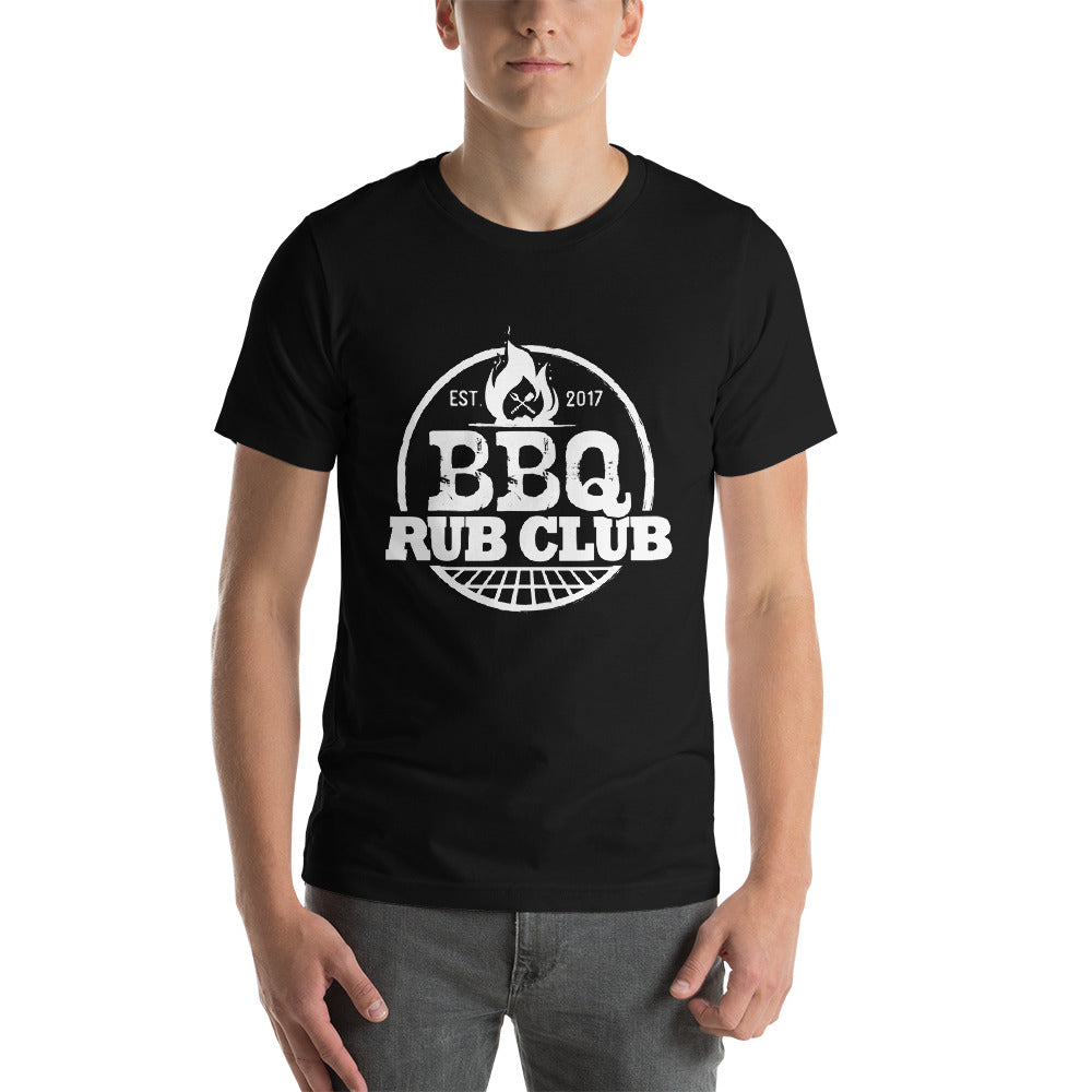 BBQ Rub Club T-Shirt with White Logo