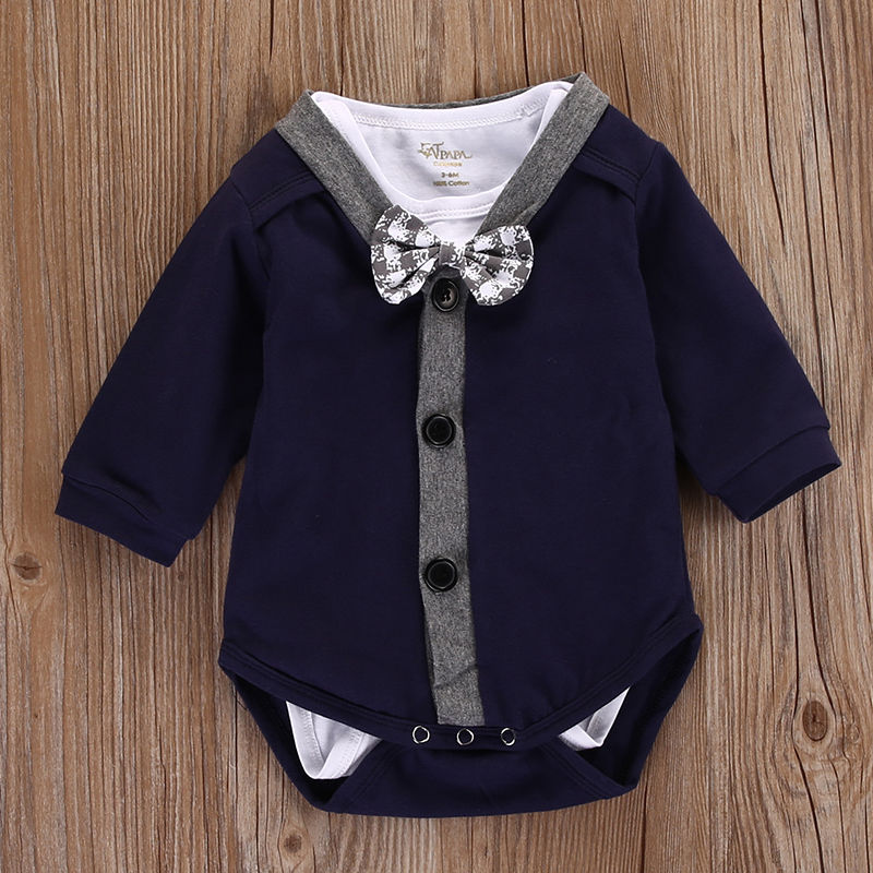 Cardigan and bowtie onesie set