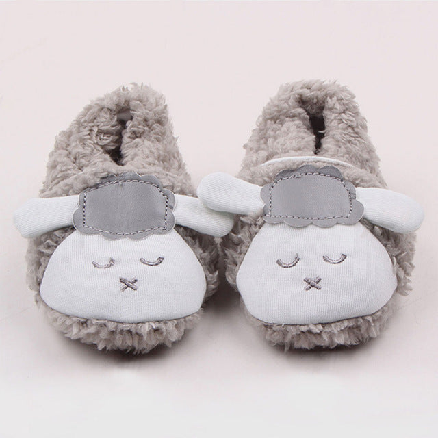 Winter sheep slippers