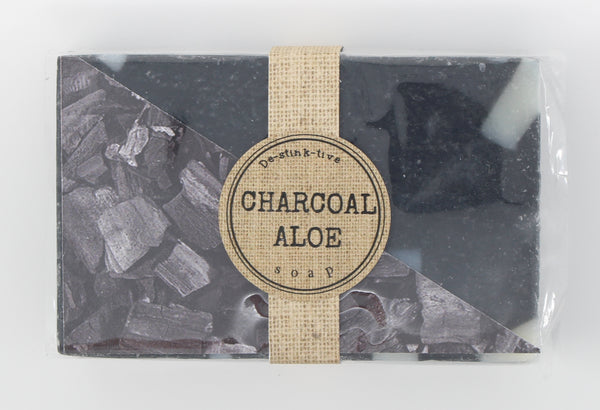 Charcoal Aloe bar soap