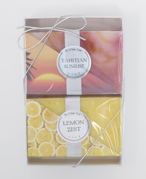 2-Pack: Tahitian Sunrise & Lemon Zest bar soap