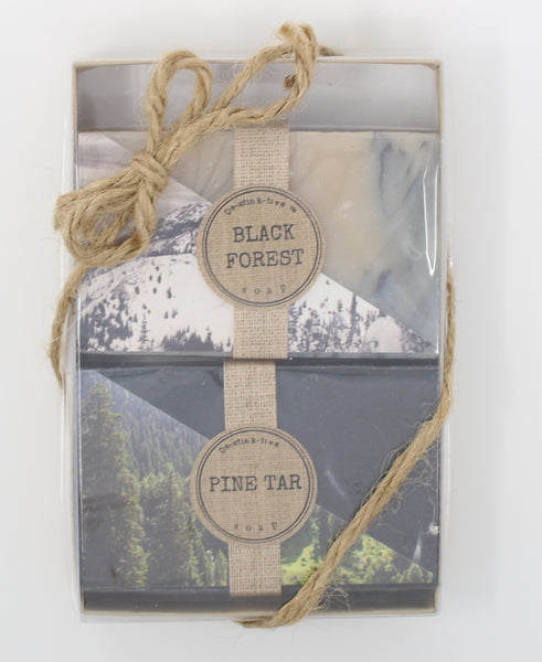 2-Pack: Black Forest & Pine Tar bar soap