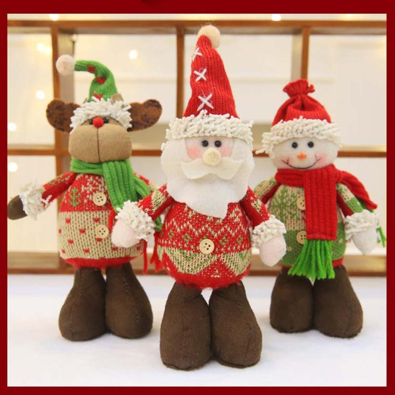 1pc christmas santa snowman dolls gift merry christmas tree decorations christmas decoration for home new year