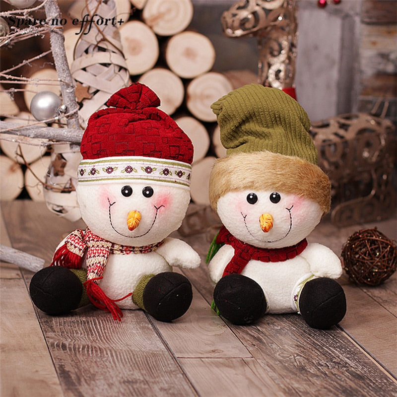 2018 new christmas decorations for home desk natal santa snowman toys christmas ornaments kid gifts chrismas