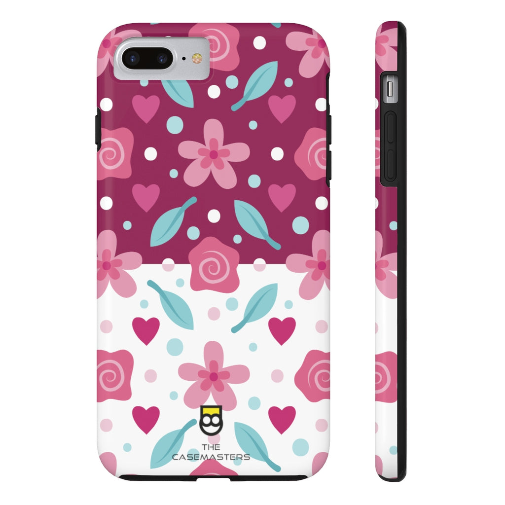 Abstract Flowers (RUGGED ARtMOR), Rugged iPhone Case - The Case Masters