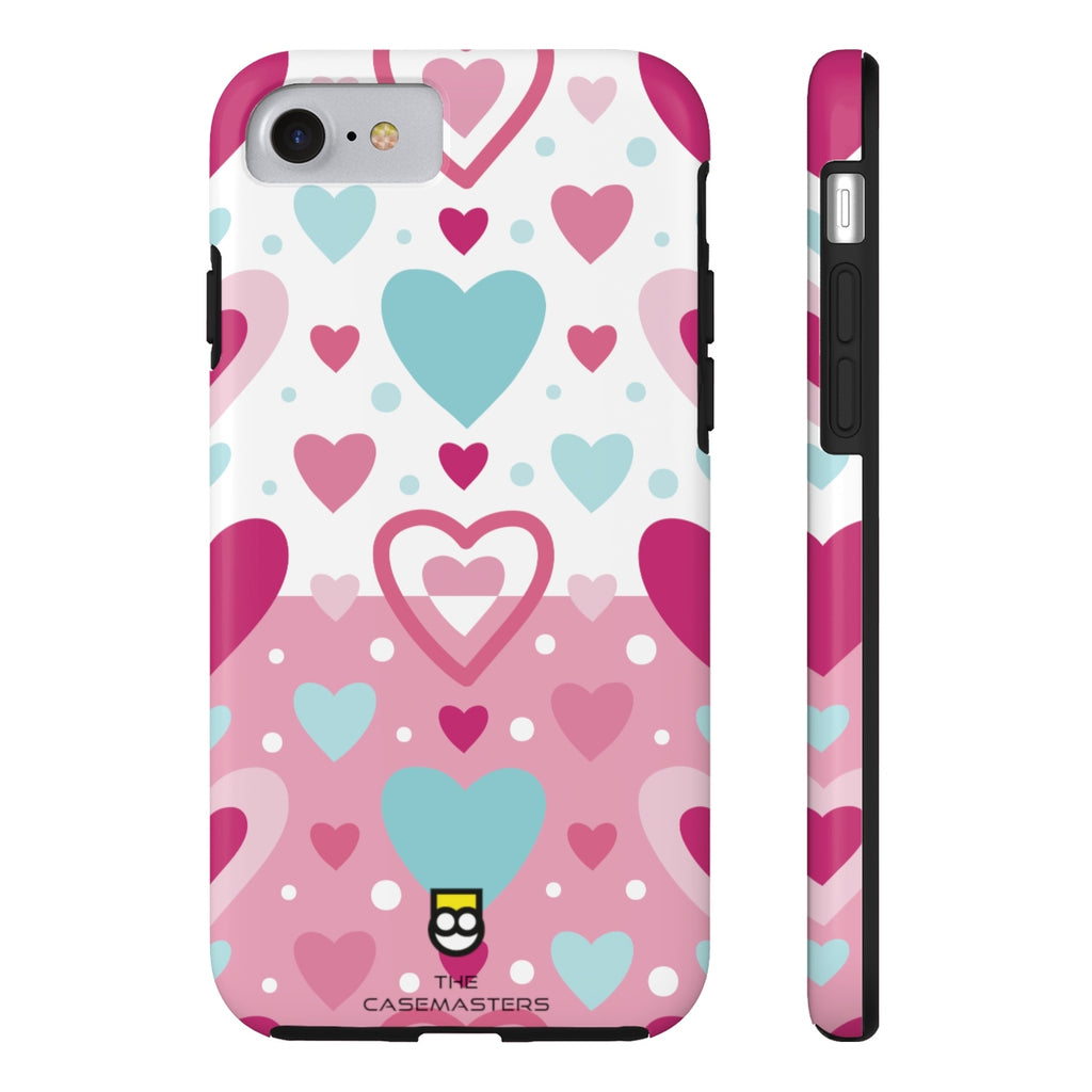 Abstract Hearts (RUGGED ARtMOR), Rugged iPhone Case - The Case Masters