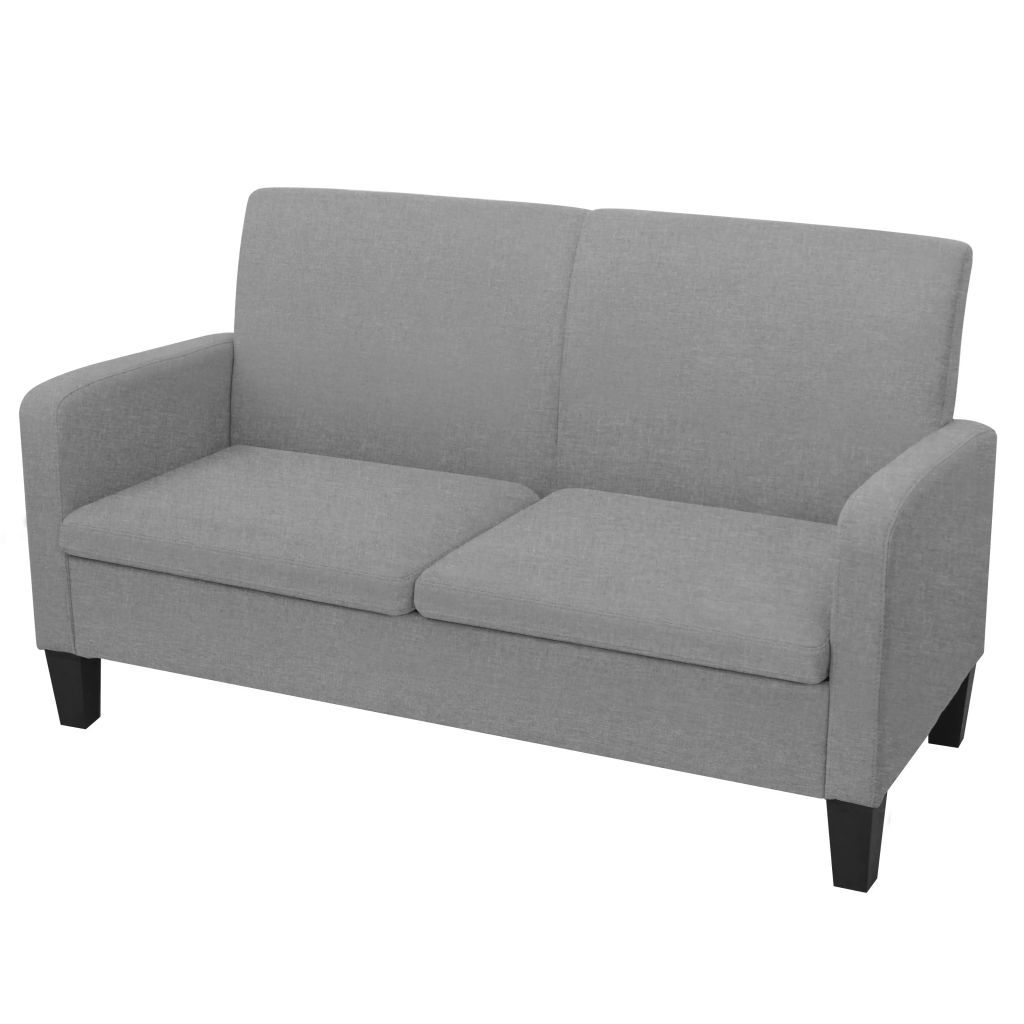 2-Seater Sofa 135x65x76 cm Light Grey Kings Warehouse