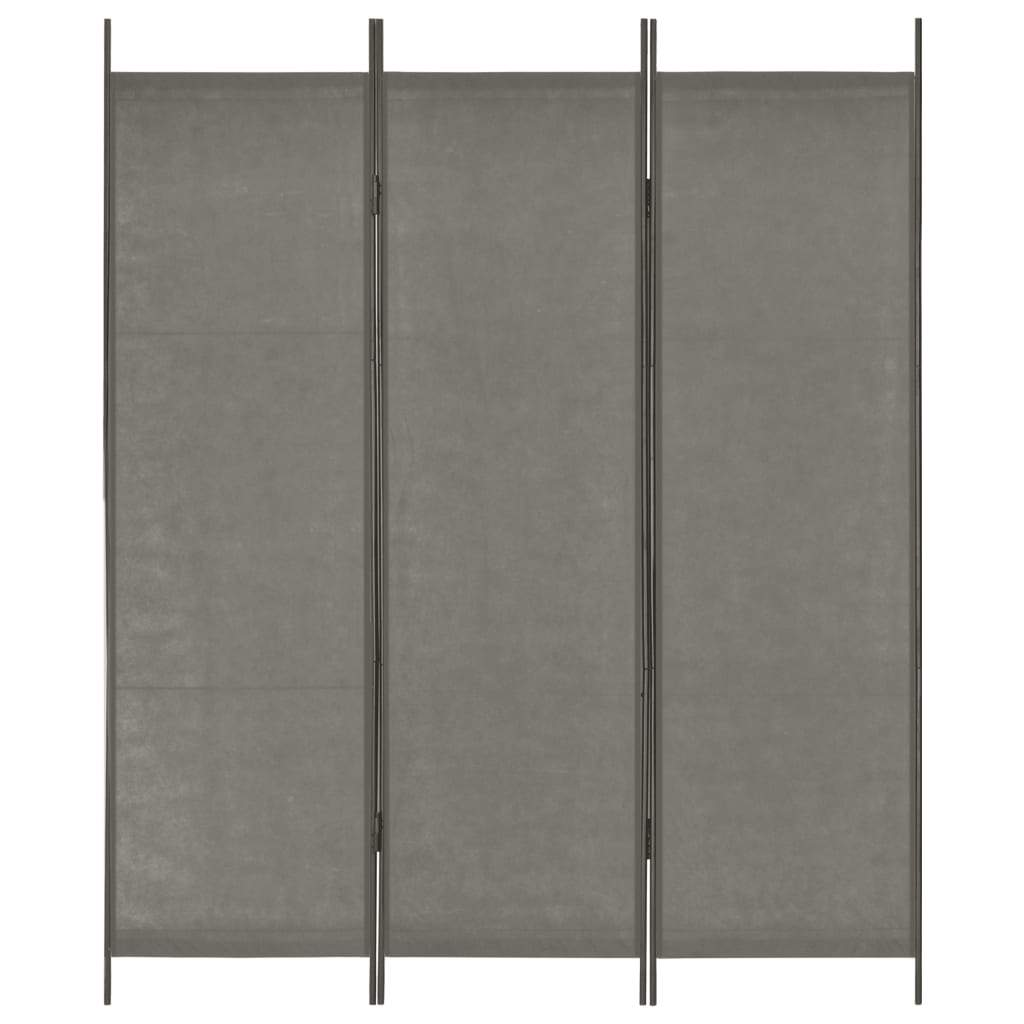 3-Panel Room Divider Anthracite 150x180 cm Kings Warehouse