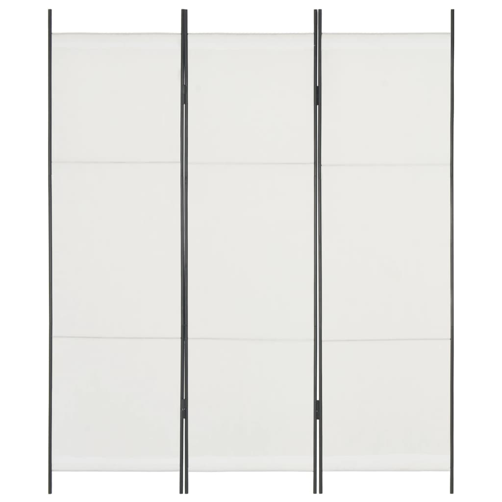 3-Panel Room Divider White 150x180 cm Kings Warehouse