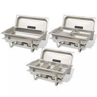 3 Piece Chafing Dish Set Stainless Steel Kings Warehouse