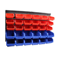 30 Bin Wall Mounted Rack Storage Organiser Kings Warehouse