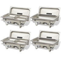 4 Piece Chafing Dish Set Stainless Steel Kings Warehouse