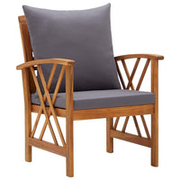 4 Piece Garden Lounge Set with Cushions Solid Acacia Wood Kings Warehouse