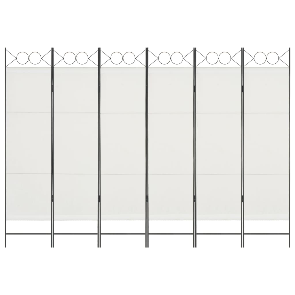 6-Panel Room Divider White 240x180 cm Kings Warehouse