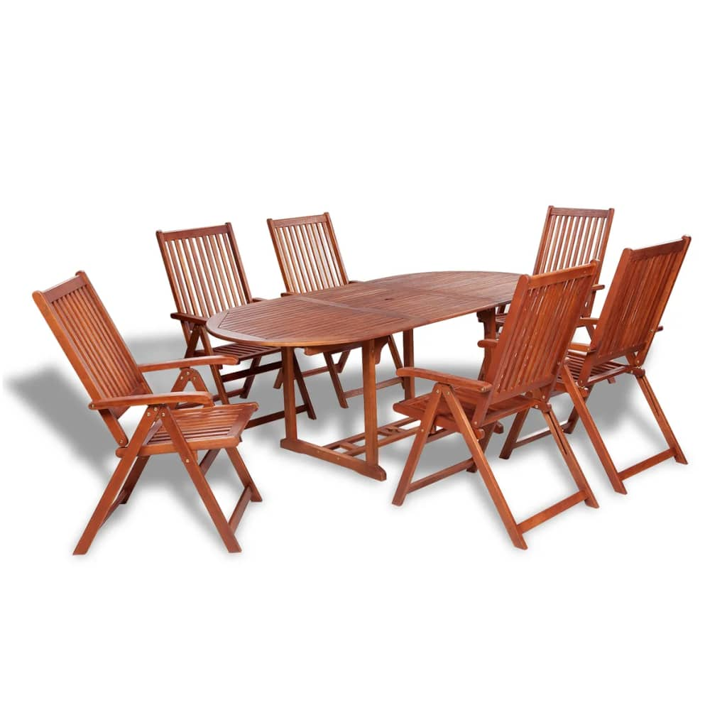 7 Piece Outdoor Dining Set Solid Acacia Wood Kings Warehouse
