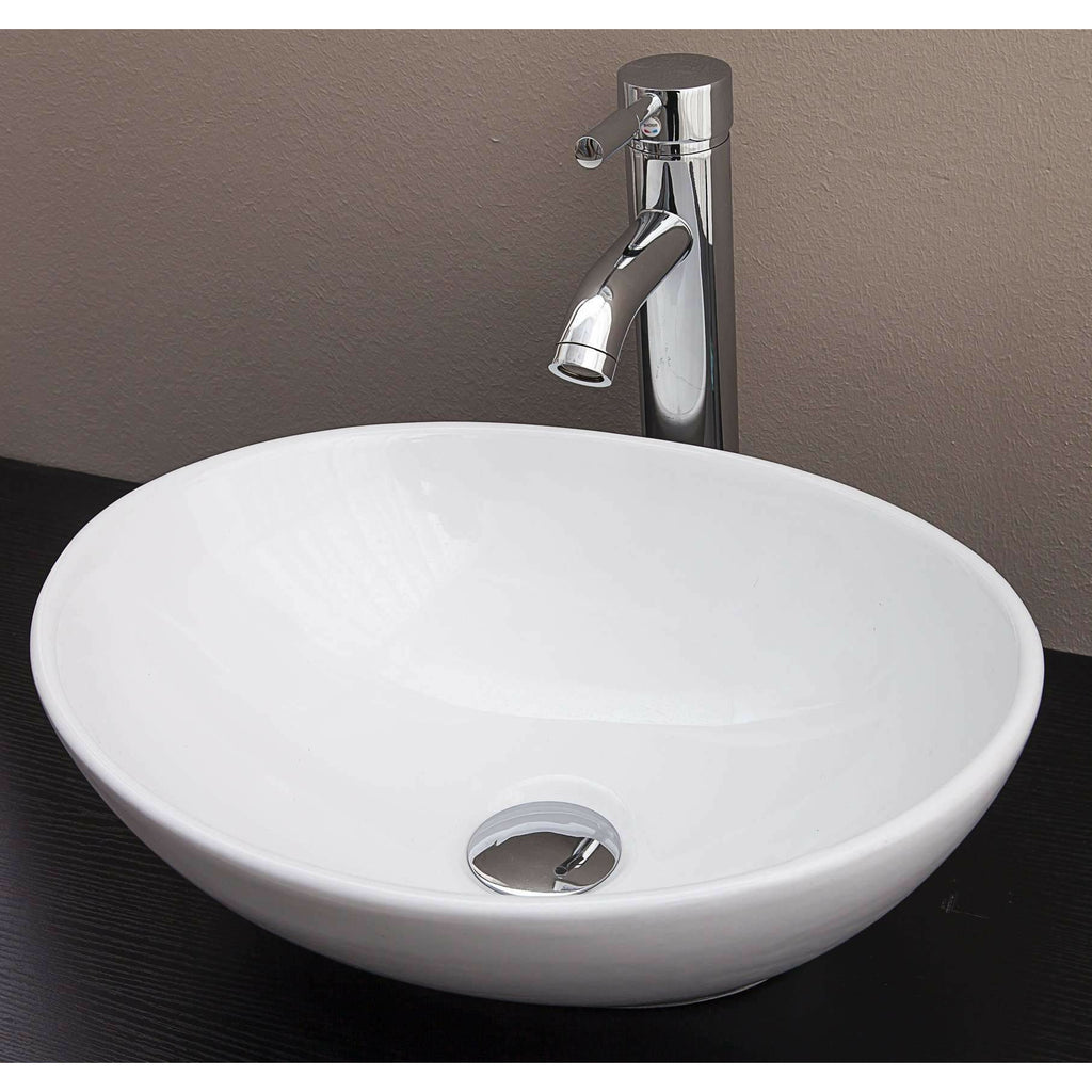 Above Counter Bathroom Vanity Oval Ceramic Basin Kings Warehouse