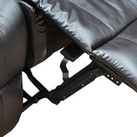 Alan Recliner Bonded Leather -1R -BLACK Kings Warehouse