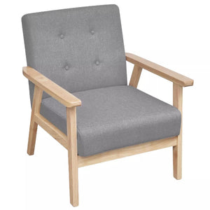 Armchair Light Grey Fabric Kings Warehouse