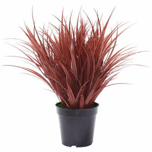 Artificial Ornamental Potted Dense Burgundy Grass 38 cm Kings Warehouse