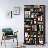 Artiss Adjustable Book Storage Shelf Rack Unit - Expresso Kings Warehouse