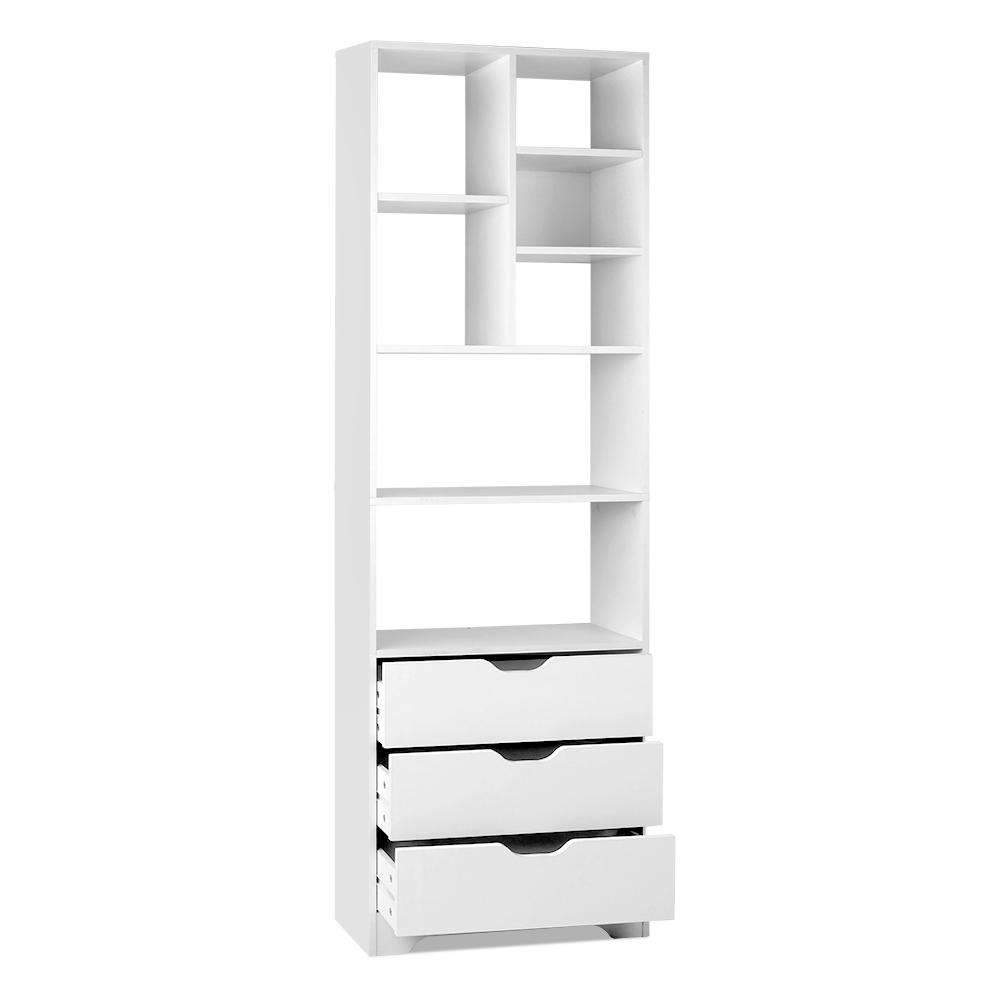 Artiss Display Drawer Shelf - White Kings Warehouse