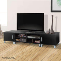 Artiss Entertainment Unit with Cabinets - Black Kings Warehouse