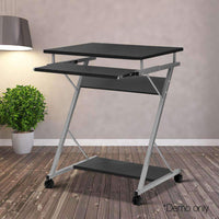 Artiss Metal Pull Out Table Desk - Black Kings Warehouse