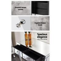 Artiss Mirrored Furniture Dressing Console Hallway Hall Table Sidebaord Drawers Bedroom Kings Warehouse