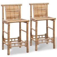 Bar Stools 2 pcs Bamboo