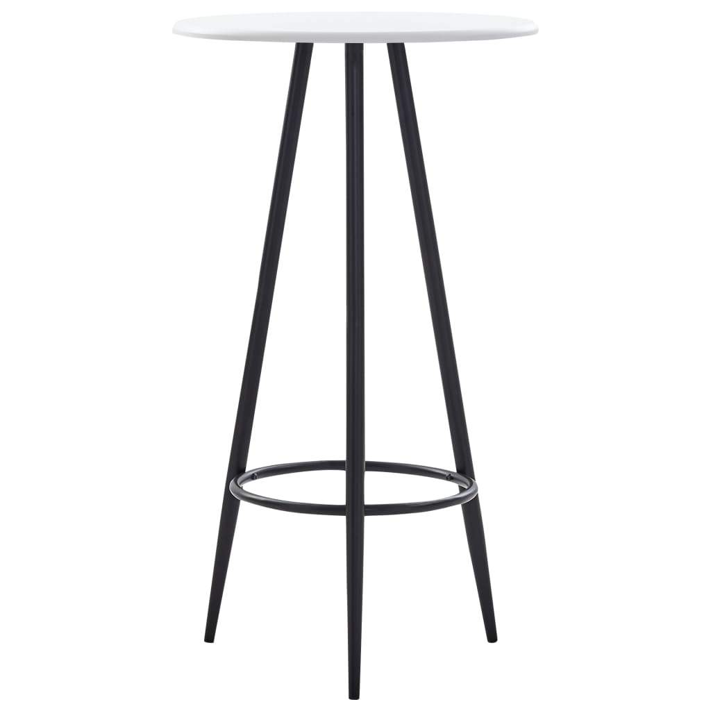 Bar Table White 60x107.5 cm MDF Kings Warehouse