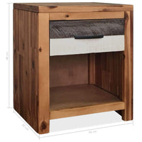 Bedside Tables 2 pcs Solid Acacia Wood 40x30x48 cm Kings Warehouse