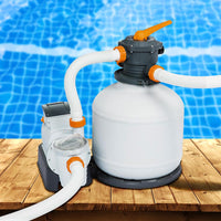 Bestway Sand Filter Above Ground Swimming Pool 3000GPH Pools Cleaning Pump Pool & Accessories Kings Warehouse