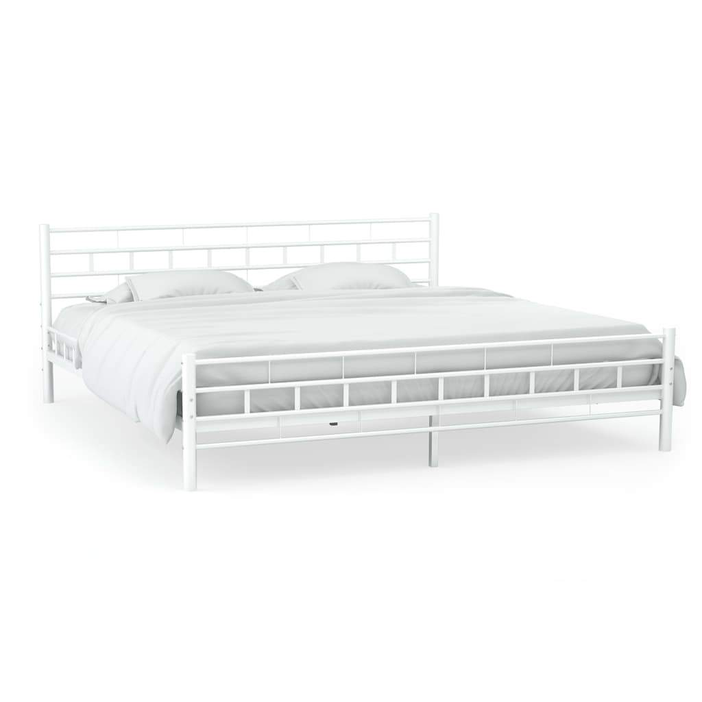 Bexley Bed Frame White Metal Double Kings Warehouse Default Title