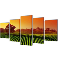 Canvas Wall Print Set Fields 100 x 50 cm 241580 Kings Warehouse