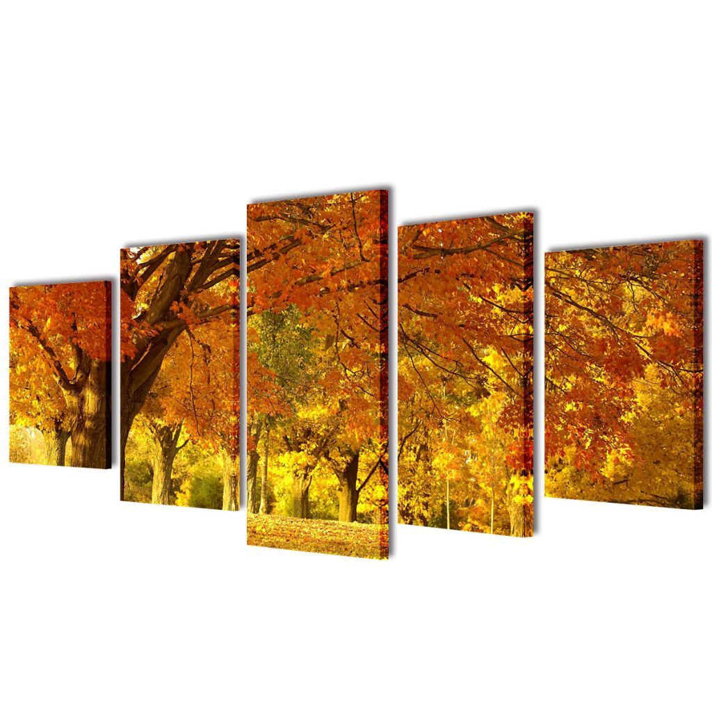 Canvas Wall Print Set Maple 100 x 50 cm 241576 Kings Warehouse