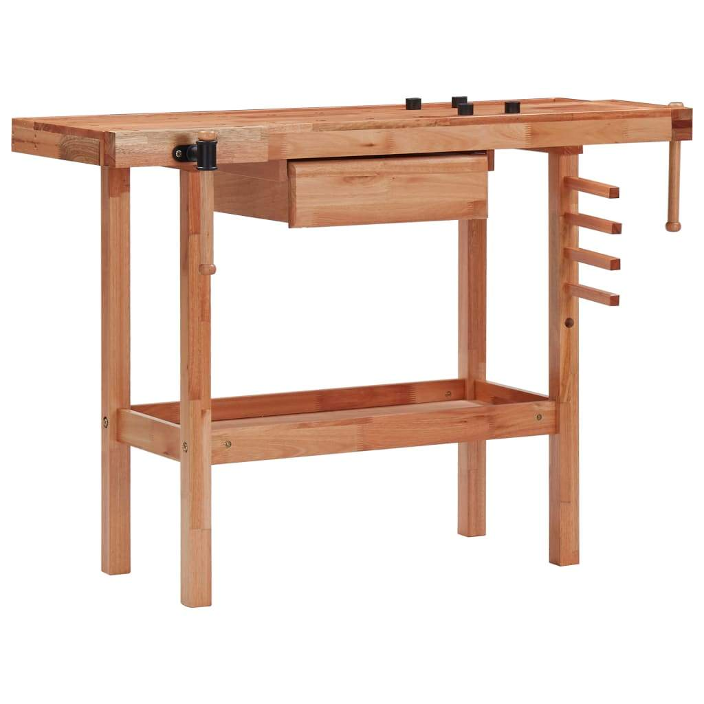 Carpentry Workbench with Drawer and 2 Vices Hardwood Kings Warehouse
