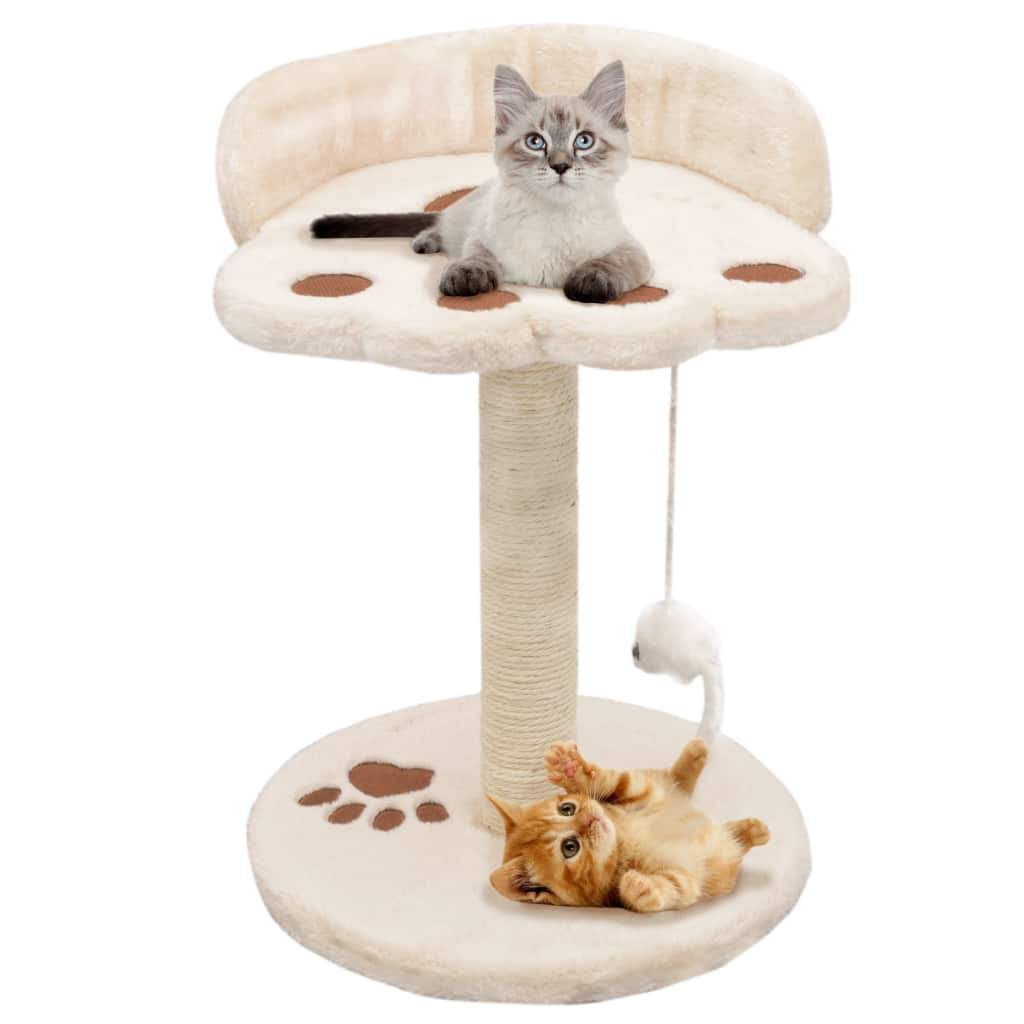 Cat Tree with Sisal Scratching Post 40 cm Beige and Brown Kings Warehouse
