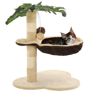 Cat Tree with Sisal Scratching Post 50 cm Beige and Brown Kings Warehouse